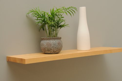 Wandbord Wandboard Design Livingboard Regal massiv Holz - verschiedene Holzarten wählbar - Tiefe:20cm Dicke:25mm (Erle, 80cm) (Bücherregal Erle)