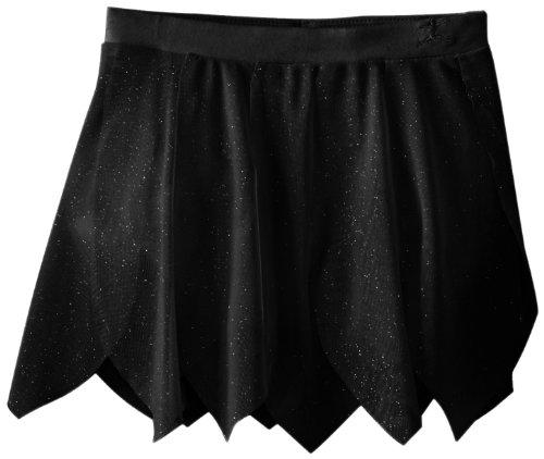 Danskin Mädchen Rock Ballett Girls Glitter Skirt, Rich Black, 104-122, 3754 (Black Kids Tutu)