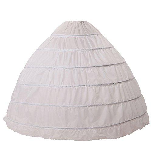 BEAUTELICATE Petticoat Reifrock Unterröcke Damen Lang Fur Brautkleid Hochzeitskleid Vintage Crinoline Underskirt., Weiß, Einheitsgröße