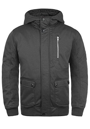 SOLID Wallace Herren Jacke Winterjacke mit Stehkragen und Kapuze aus hochwertiger Baumwollmischung , Größe:M, Farbe:Dark Grey (2890)