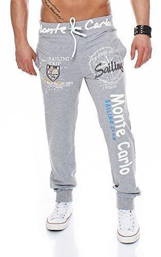 Jeans Pantaloni Tuta Uomo Pantaloni Sport Fitness Jogging Sportivo Pantaloni Casual Jogger - cotone, grigio, 5% licra\ngroessen 25% poliestere 5% licra 70% cotone, Uomo, 3XL