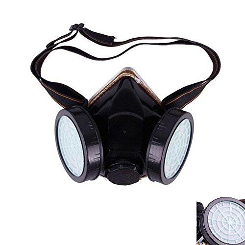 Staubfrei, Kartusche Industrie Atemschutzmaske Dual Gas Sicherheit Anti-Staub chemischen Lack Spray Maske mit verstellbarem Riemen
