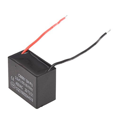 SODIAL (R) 3.5uf 450V AC 50/ 60Hz 2-Draht Ventilator Kondensator CBB61 3.5MFD -