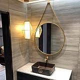 LEI ZE JUN UK- Nordischer Eitelkeits-Spiegel-Wand-Dekorations-Badezimmer-Seil-Spiegel-Einfacher Verfassungs-großer Runder Spiegel Wandspiegel