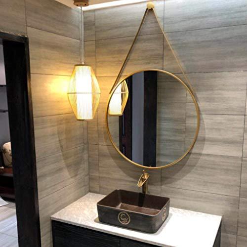 LEI ZE JUN UK- Nordischer Eitelkeits-Spiegel-Wand-Dekorations-Badezimmer-Seil-Spiegel-einfacher Verfassungs-großer runder Spiegel Wandspiegel (Eitelkeit Spiegel Badezimmer)