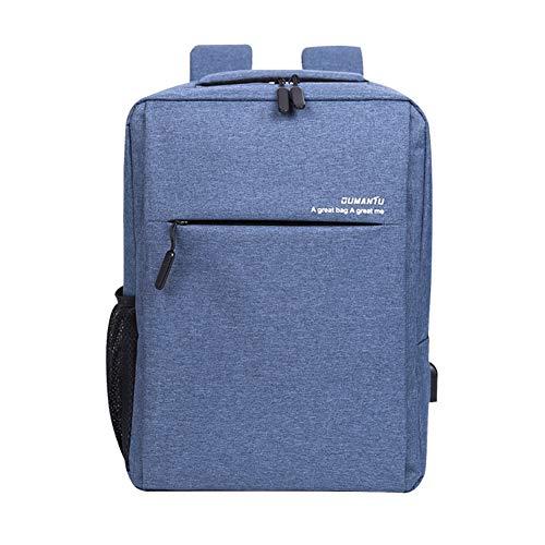 15,4-Zoll-Business-Computer-Rucksack, USB-Lade-Multifunktions-Laptop-Tasche Nylon Wasserdichte Reise-Student-Rucksack Vielzahl von Farben schwarz/braun/hellgrau/blau