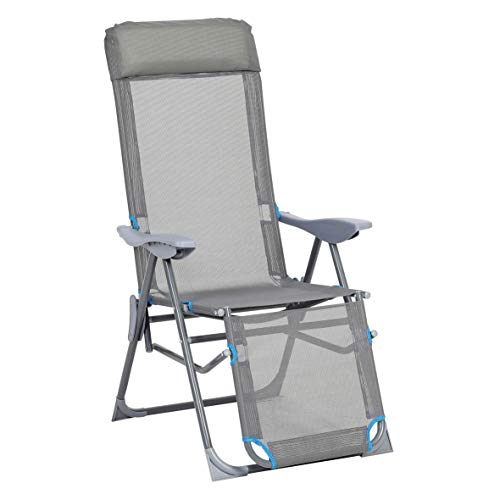 greemotion Relaxsessel Lido, klappbarer Liegestuhl, Gartenstuhl mit Aluminium-Gestell, Kla