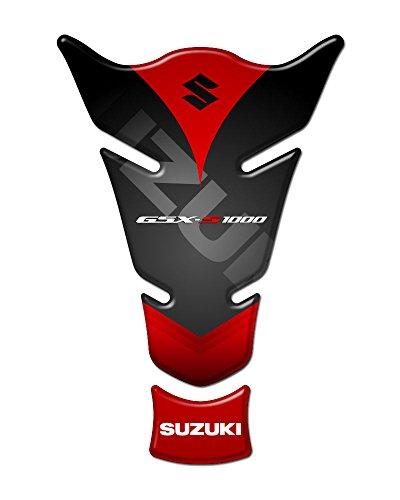 Tank Pad, protector de tanque resinoso 3D compatible para moto Suzuki GSXS 1000GP-108 rojo