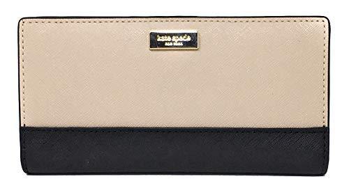 Kate Spade New York Laurel Way Stacy Leather Wallet (Warm Beige/Black) -