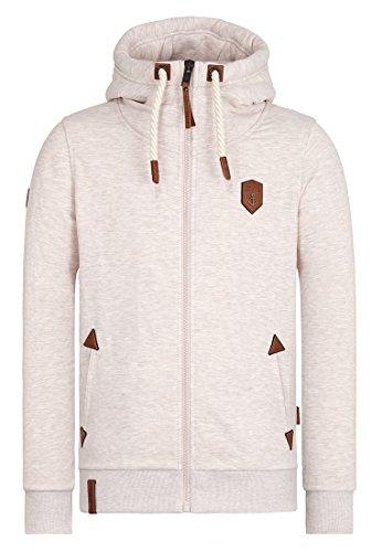 Naketano Male Zipped Jacket Schwarzkopf IV Nasty Oma Melange