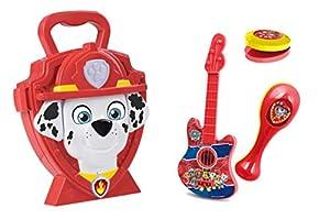 Jamara 410103 Paw Patrol Marshall - Juego de Accesorios de música (4 Piezas, Incluye maletín Estable y manejable con Instrumentos Musicales), Color Rojo
