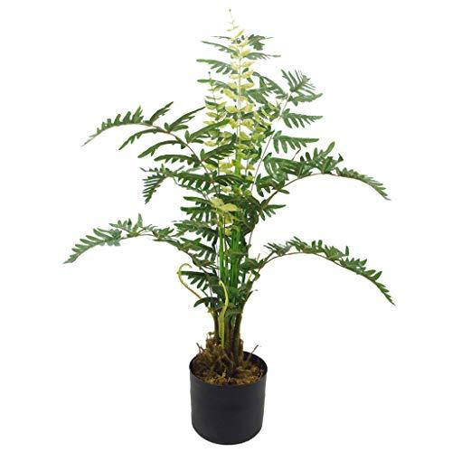Leaf Foglia di Felce Artificiale Premium con Vaso, 90 cm