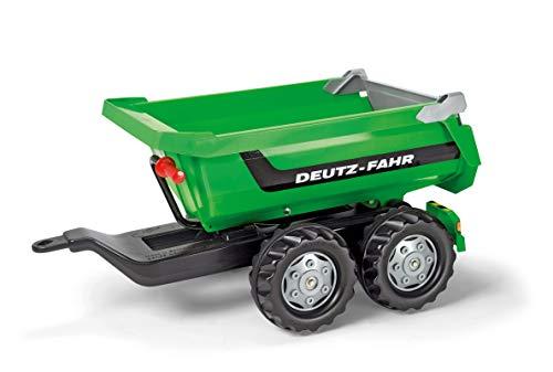 Deutz Trettraktor Rolly Toys 122240 - Anhänger / rollyHalfpipe Deutz (Zweiachsenanhänger mit Kippfunktion, für Kinder ab 3 Jahre)