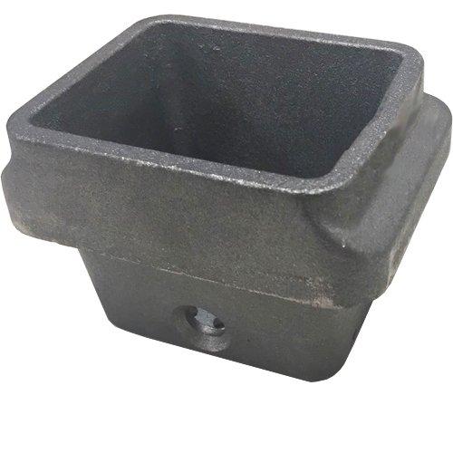 Brasero en fonte pour poêle à pellets H: 81mm Bouche: 95x 70mm-Tôle De 6,5mm
