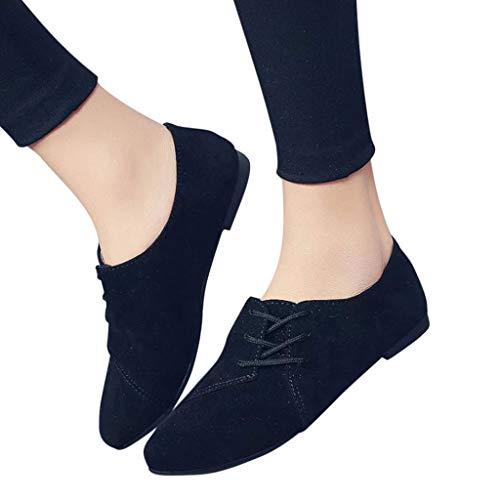 6604db6288d854 Deloito Frühling Herbst Sandalen Damen Mode Retro Segeltuch Flock Schuhe  Klassiker Schnüren Flacher Boden Einzelne Schuhe