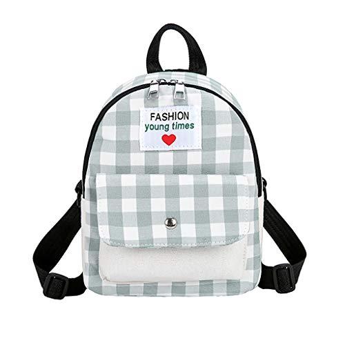 2019 Rucksack Damen, Tragbar Beiläufig Backpack Neu Wild Mode Kontrast Plaid Reise Rucksack Schultasche, Schultasche FüR Mädchen Scout