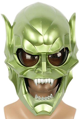 Halloween Kostüme Goblin (Karneval Masken Harz Cosplay Grün Maske für Erwachsene Maskerade Verrücktes Kleid Party)