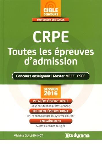 CRPE, toutes les épreuves d'admission