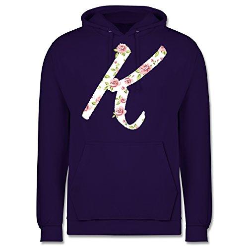 Anfangsbuchstaben - K Rosen - Männer Premium Kapuzenpullover / Hoodie Lila
