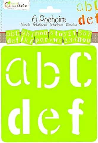 Avenue Mandarine 42643O - Set 6 Schablonen Alphabet Fantasy
