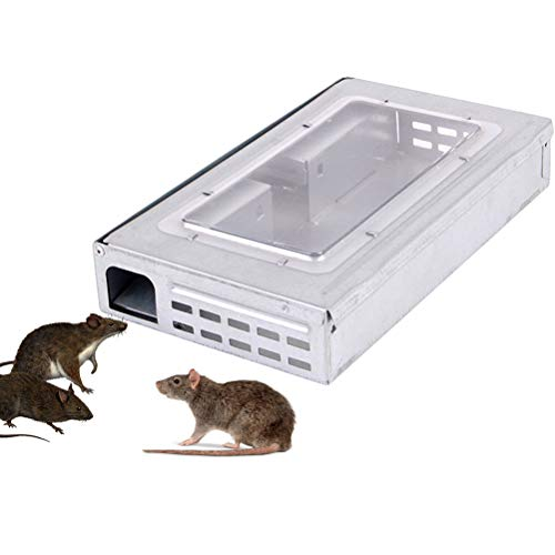 Weesey Mice Rodent Cage, Household Large Mouse Trap Automatic Continuous Mousetrap Reusable Rat Traps Catcher -