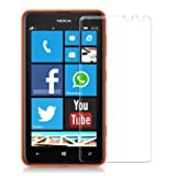 PES 0.3mm Tempered Glass for Nokia Lumia 625 [Cutout for Proximity Sensor], 0.3mm thickness, 9H Hardness, 2.5D Curved Edge, Reduce Fingerprint, No Rainbow, Bubble Free & Oiled Stains Coating with Alcohol wet cloth pad & clean micro fibre Dry cloth, Anti Explosion Tempered Glass Screen Protector for Nokia Lumia 625