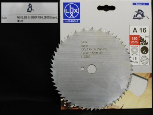 OBI LUX 117250 A16 Basic CV-Kreissägeblatt 150 x 16 mm, 60 Z