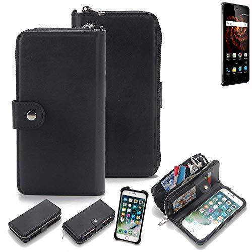 K-S-Trade 2in1 Handyhülle für Allview X3 Soul Lite Schutzhülle & Portemonnee Schutzhülle Tasche Handytasche Case Etui Geldbörse Wallet Bookstyle Hülle schwarz (1x)