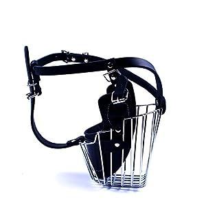 Gulunmun Couvercle de Bouche de Chien de Compagnie de Chien réglable Anti-Mordant Masque de Chien Qui aboieNoir