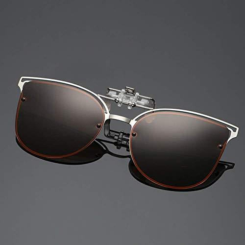 YHEGV Polarisierte cat Eye Sonnenbrille Frauen Fahren Clip auf myopie Brillen weibliche flip up Brillen nachtsichtobjektiv