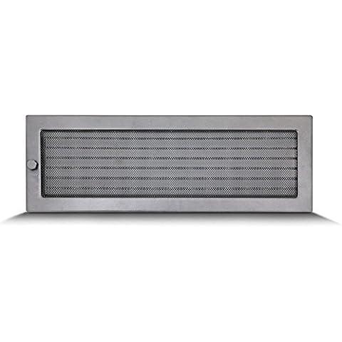 17x50cm Rejilla de lamas Aire rejilla ventilación Chimenea regulable - acero inoxidable - DE