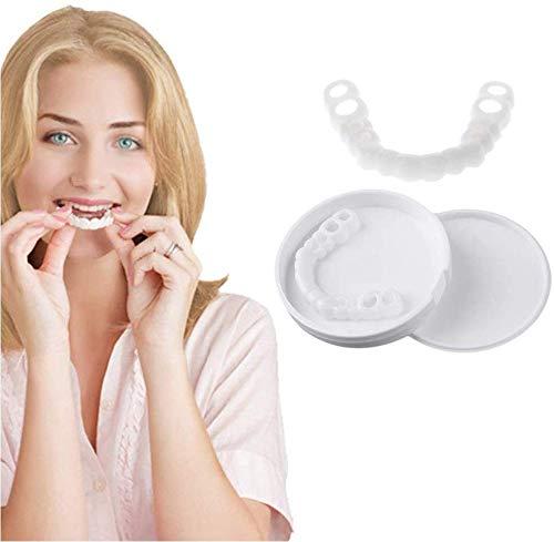 ZYXBJ Zahnkosmetik Bequeme Passform Flexibles Gebiss Furnier Sofort Perfektes Lächeln Gebiss Richtig Schlechtes Gebiss Einfache Mundpflege -