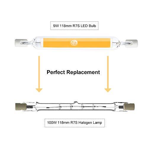Commercio, Industria e Scienza Lampadine a LED Bonlux 10W R7S LED 118mm Lampadina Linear Bianco Freddo 6000K R7S J118 Dippio Effetto COB Filamento Lampada 118mm x 15mm Equivalente a 90W Lampada Alogena 360 Gradi Confezione da 2