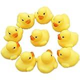 Malloom® Una docena (12) caucho Ducks / amarillo pato Duckie bebé juguetes para baño ducha Fiesta De Cumpleaños favores