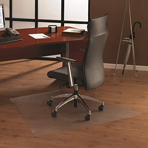 Floortex Bodenschutzmatte | Bürostuhlunterlage ultimat | 120 x 150 cm | aus Original Polycarbonat | transparent | trapezförmig | TÜV Zertifiziert | für Harte Böden