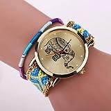 Relojes Hermosos, Xu ™ de las mujeres tejer lana elefante reloj de cuarzo / pulsera ( Color : Café , Talla : Para Mujer-Una Talla )