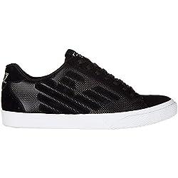 Emporio Armani EA7 scarpe sneakers donna camoscio nuove pride metal nero