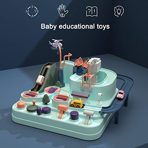Multicolore Effet Jouets Educatifs Circuit Jouet Voiture Flexible Enfant Starall Piste de Voiture Jouet Simulation en Forme de Macaron Jeu Piste de Course pour Les Tout-Petits