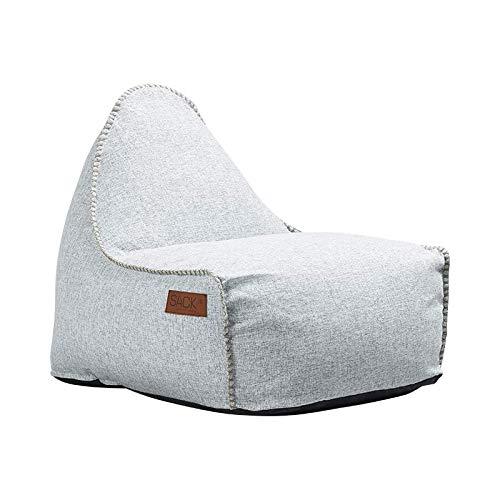 SACKit - RETROit Cobana - Outdoor/Indoor Sitzsack & Sessel mit Lehne - Perfekt für die Lounge, draußen im Garten oder Balkon - Kombinerbar mit einem Hocker - Dänisches Design - Weiß