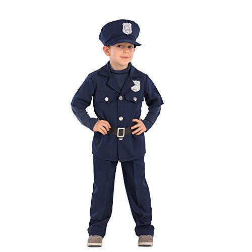 Polizist Childs Kostüm - Carnival Toys-Kostüm Polizist für Kinder unisex-child, mehrfarbig, One Size, 65903