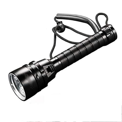 HWHS219 Tauchlicht 40000 Lumen Professionelle Leistungsstarke Led wasserdichte Tauchen Taschenlampe Taucherlicht LED Unterwasser Taschenlampe Lampe Lanterna (Wir Bieten Keine Batterien)