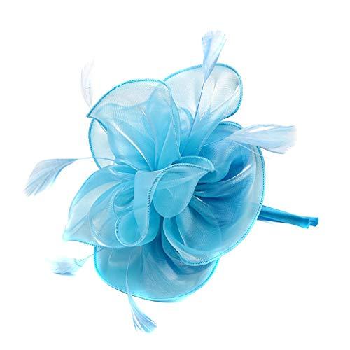Stirnbänder 1920er Jahre Pfau Stirnband Kopfbedeckung Flapper Stirnband Kopfschmuck Floral Flower Garland Stirnband Vintage-Wunderschön Stirnband für Braut Feder Stirnband ()