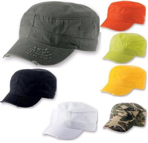 Army Destroyed Cap im Fidel Castro Kuba Look. Fullcap im Military Style in 7 Farben und den Grössen S/M und L/XL