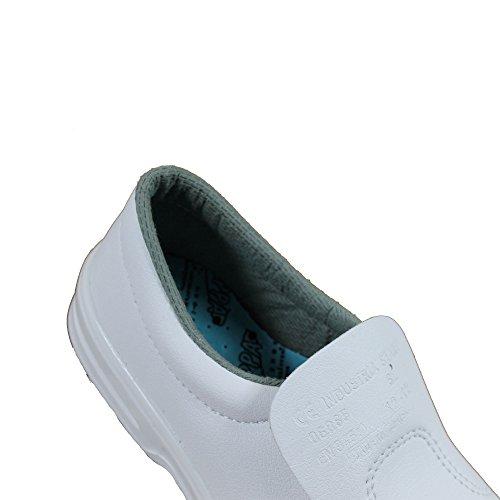 Chaussures de sécurité s2 chaussures kochschuhe laborschuhe imperfections plat blanc Weiß