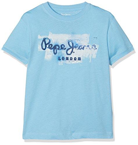 Pepe Jeans Golders Jk, T-Shirt Bambino, Blu (Bay), 7 anni (Taglia Produttore: (Abbigliamento bambino)