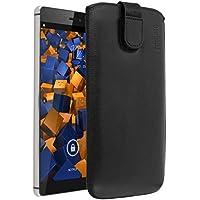 mumbi ECHT Ledertasche Huawei P8 Tasche Leder Etui (Lasche mit Rückzugfunktion Ausziehhilfe)