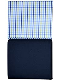 KUNDAN SULZ GWALIOR Men's Unstitched Shirt and Trouser Fabric Navy Blue_Free Size