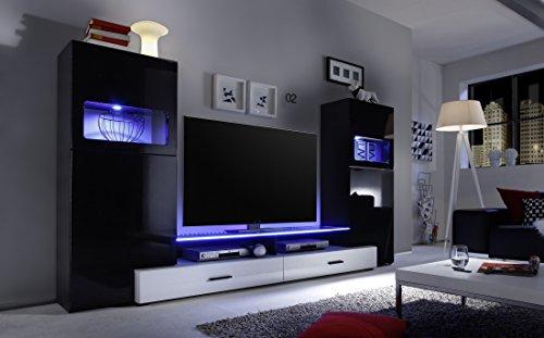 Multimediacenter schwarz Hochglanz