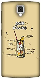 The Racoon Grip Cream John Collins hard plastic printed back case for Lenovo A1000