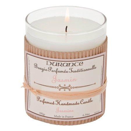 DURANCE – Bougie parfumée en Verre – Jasmin